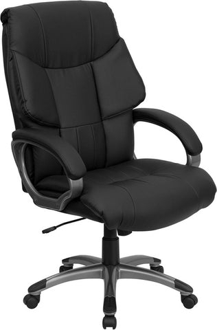 High Back Black Leather Executive Office Chair [BT-9123-BK-GG]