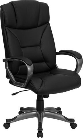 High Back Black Leather Executive Office Chair [BT-9177-BK-GG]