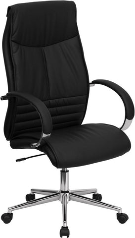 High Back Black Leather Executive Office Chair [BT-9996-BK-GG]