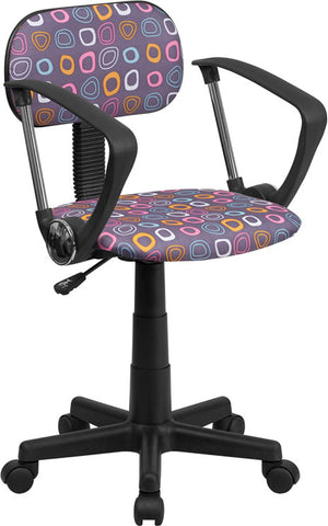 Multi-Colored Pattern Printed Computer Chair with Arms [BT-FL-A-GG]