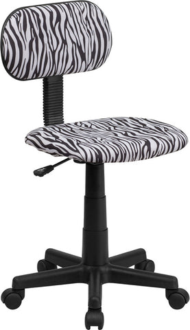 Black and White Zebra Print Computer Chair [BT-Z-BK-GG]