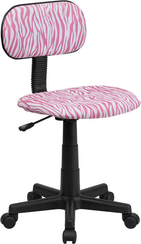 Pink and White Zebra Print Computer Chair [BT-Z-PK-GG]