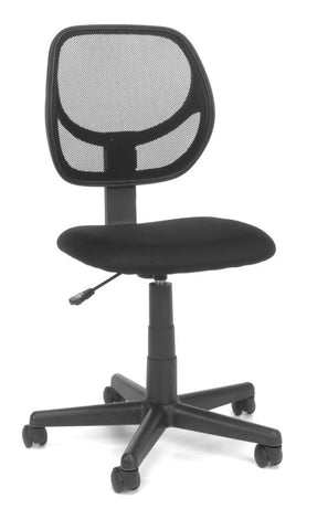ESSENTIALS ARMLESS TASK CHAIR MESH/FABRIC