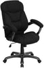 High Back Black Microfiber Upholstered Contemporary Office Chair [GO-725-BK-GG]