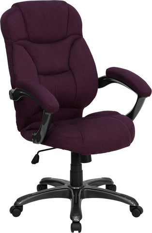 High Back Grape Microfiber Upholstered Contemporary Office Chair [GO-725-GRPE-GG]