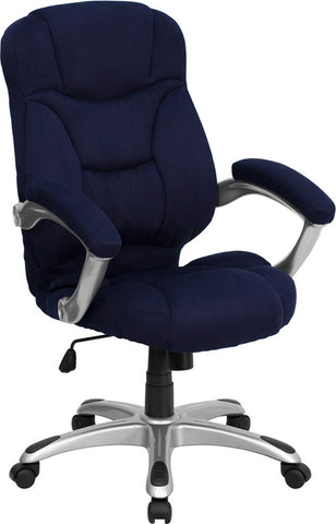 High Back Navy Blue Microfiber Upholstered Contemporary Office Chair [GO-725-NVY-GG]