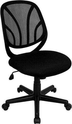 Y-GO Chair™ Mid-Back Black Mesh Computer Task Chair [GO-WY-05-GG]