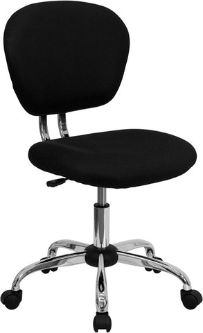 Mid-Back Black Mesh Task Chair with Chrome Base [H-2376-F-BK-GG]