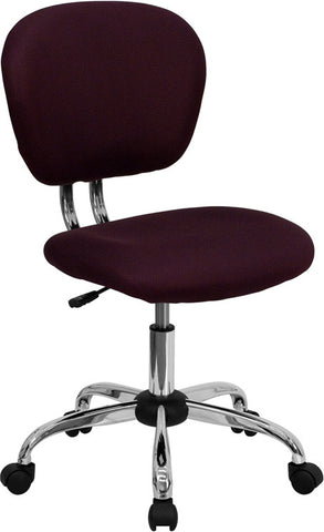 Mid-Back Burgundy Mesh Task Chair with Chrome Base [H-2376-F-BY-GG]