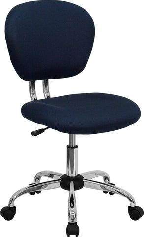 Mid-Back Navy Mesh Task Chair with Chrome Base [H-2376-F-NAVY-GG]