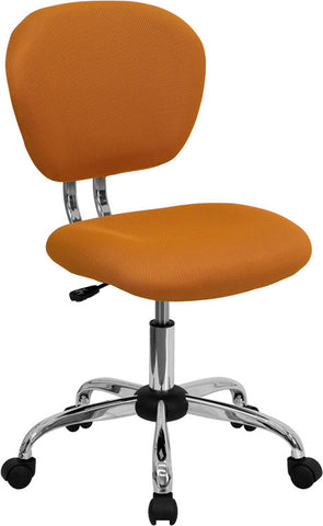 Mid-Back Orange Mesh Task Chair with Chrome Base [H-2376-F-ORG-GG]
