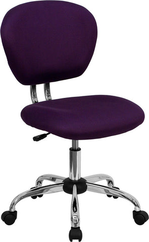 Mid-Back Purple Mesh Task Chair with Chrome Base [H-2376-F-PUR-GG]
