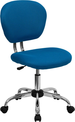 Mid-Back Turquoise Mesh Task Chair with Chrome Base [H-2376-F-TUR-GG]