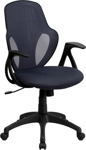 Mid-Back Executive Dark Gray Mesh Chair with Nylon Base [H-8880F-DK-GRY-GG]
