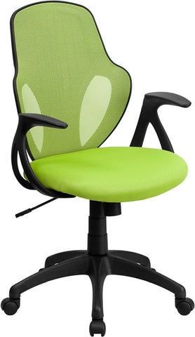 Mid-Back Executive Green Mesh Chair with Nylon Base [H-8880F-GN-GG]
