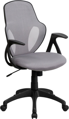 Mid-Back Executive Gray Mesh Chair with Nylon Base [H-8880F-GY-GG]