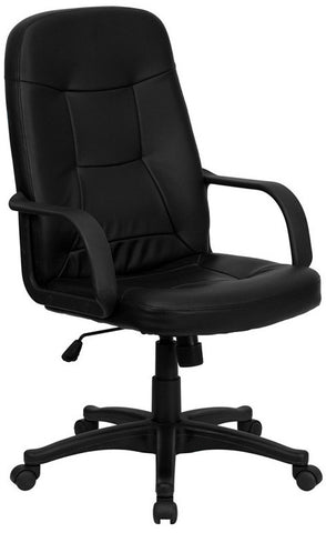 High Back Black Glove Vinyl Executive Office Chair [H8021-GG]
