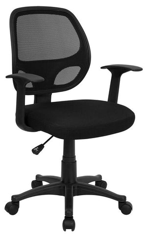 Mid-Back Black Mesh Computer Chair [LF-W-118A-BK-GG]