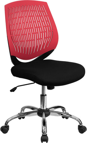 Mid-Back Red Designer Back Task Chair with Chrome Base [LF-X6-RED-GG]
