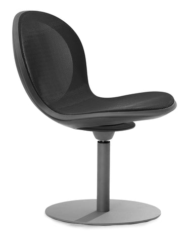 NET SWIVEL BASE CHAIR - BLACK