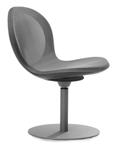 NET SWIVEL BASE CHAIR - GRAY