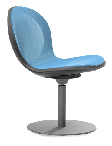 NET SWIVEL BASE CHAIR - SKYBLUE