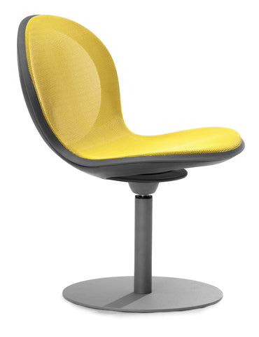 NET SWIVEL BASE CHAIR - YELLOW