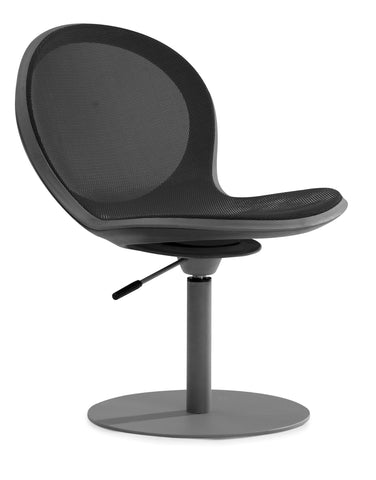 NET SWIVEL CHAIR W/ GASLIFT - BLACK