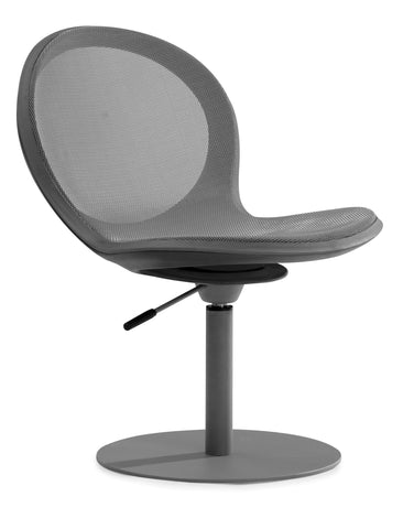 NET SWIVEL BASE CHAIR W/ GASLIFT - GRAY