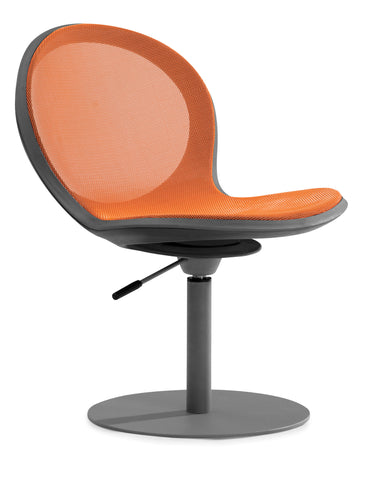 NET SWIVEL BASE CHAIR W/ GASLIFT-ORANGE