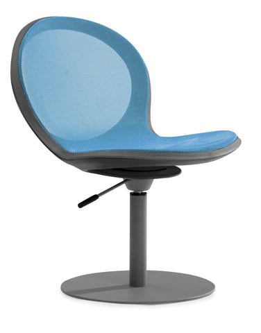 NET SWIVEL BASE CHAIR W/ GASLIFT-SKYBLUE