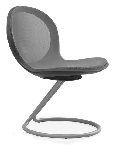 NET CIRCULAR BASE CHAIR - GRAY