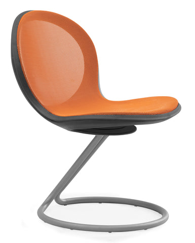 NET CIRCULAR BASE CHAIR - ORANGE