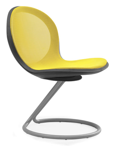 NET CIRCULAR BASE CHAIR -YELLOW