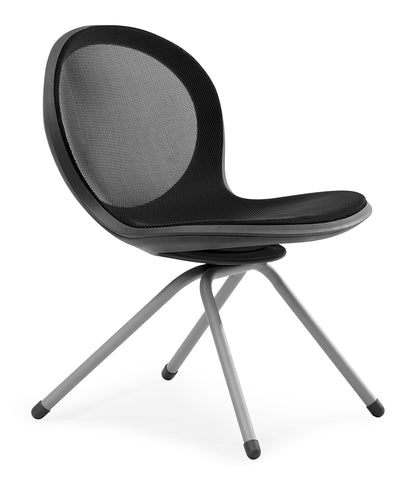 NET 4 LEGGED BASE CHAIR - BLACK