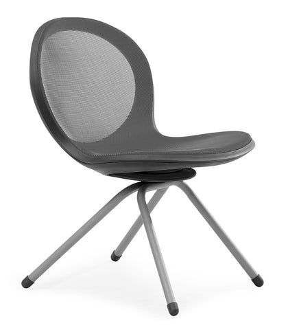 NET 4 LEGGED BASE CHAIR - GRAY