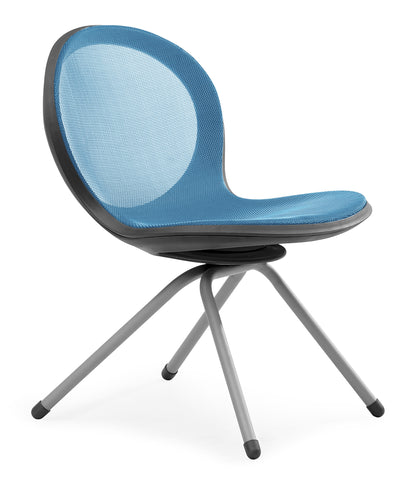NET 4 LEGGED BASE CHAIR - SKYBLUE