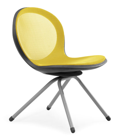 NET 4 LEGGED BASE CHAIR - YELLOW