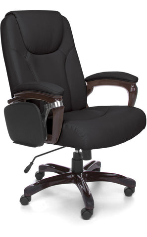 TABLET MANAGER CHAIR IN BLACK POLYURETHANE