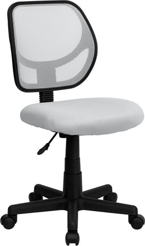 Mid-Back White Mesh Task Chair and Computer Chair [WA-3074-WHT-GG]
