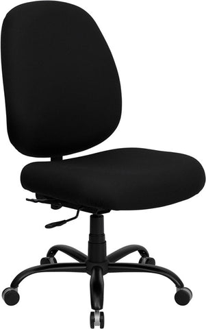 HERCULES Series 400 lb. Capacity Big and Tall Black Fabric Office Chair with Extra WIDE Seat [WL-715MG-BK-GG]