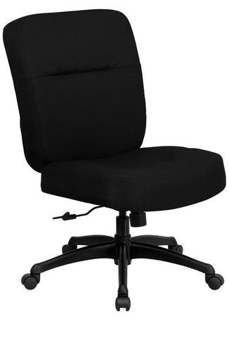 HERCULES Series 400 lb. Capacity Big & Tall Black Fabric Office Chair with Arms and Extra WIDE Seat [WL-723ATG-BK-GG]
