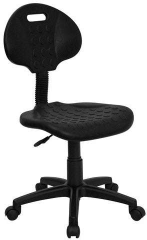 ''Tuff Butt'' Soft Black Polypropylene Utility Task Chair [WL-908G-GG]