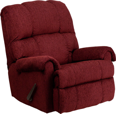 Contemporary Tahoe Burgundy Chenille Rocker Recliner [WM-8700-213-GG]