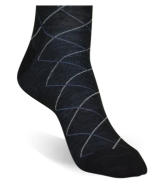 Black Tattersall Socks