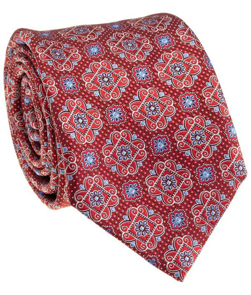 Red Medallion Tie