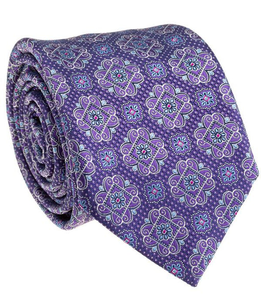 Purple Medallion Tie