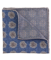 Blue and Grey Pocket Square