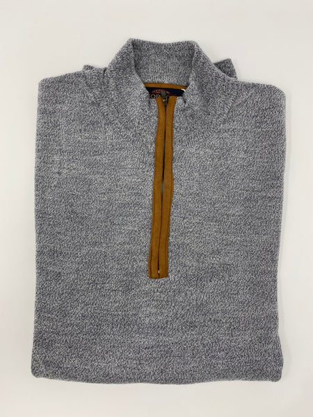 Light Grey Twist Zip Mock Sweater