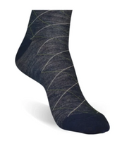 Navy Tattersall Socks